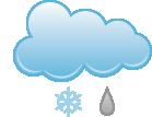 Lekki deszcz ze śniegiem
