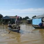 pływająca wioska, kambodża