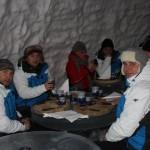 kolacja w lodowej restauracji